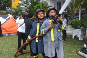 โครงการฝึกอบรม การป้องกันและระงับอัคคีภัยในมหาวิทยาลัยราชภัฏบุรีรัมย์